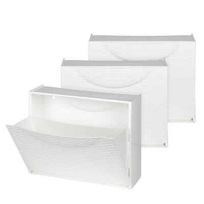 Kreher Schuhkipper »Set: 3 x Schuhkipper in Rattan-Optik, Farbe: Weiß«