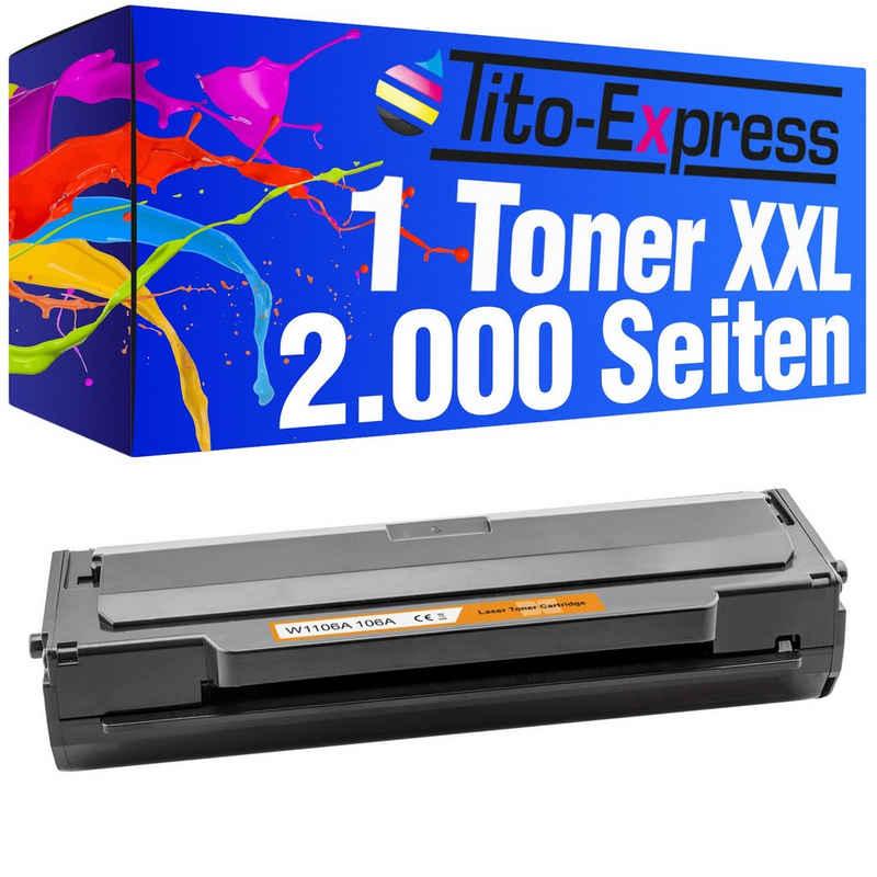 Tito-Express PlatinumSerie Tonerpatrone »Mega XXL ersetzt HP W1106A 106A«