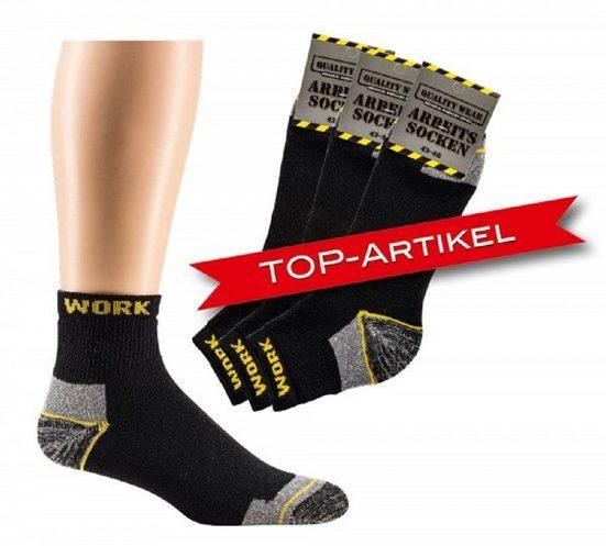Socks 4 Fun Arbeitssocken »Arbeitssocken Kurzschaft« (3-Paar)