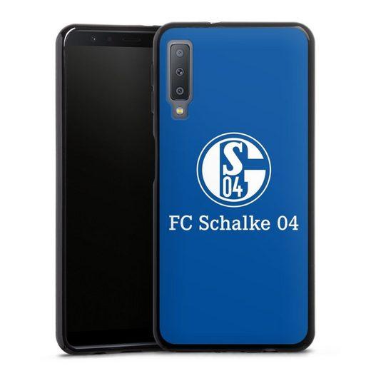 DeinDesign Handyhülle »FC Schalke 04 Blau« Samsung Galaxy A7 (2018), Hülle FC Schalke 04 Offizielles Lizenzprodukt S04