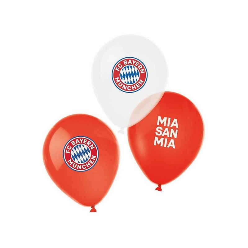Amscan Luftballon »Latexballons 28cm 6er, FC Bayern München 4farbig«