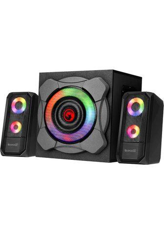 MARVO Bluetooth u. RGB LED 2.1 Soundsystem (...