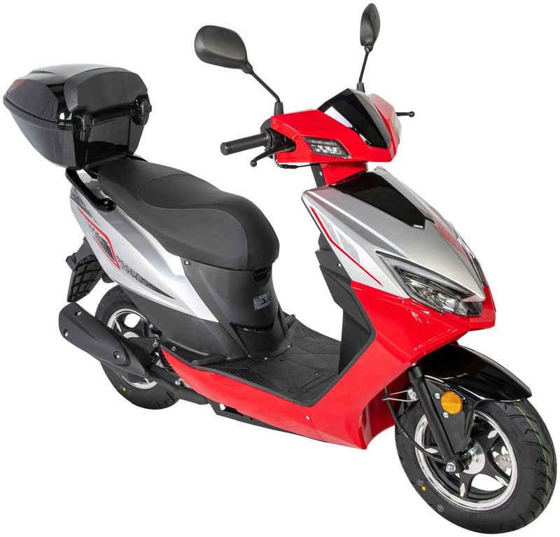 GT UNION Mofaroller »Sonic X 25«, 50 ccm, 25 km/h, Euro 5, mit Topcase
