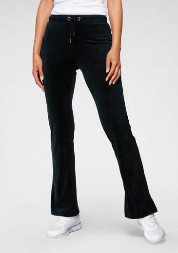 KangaROOS Jazzpants aus weichem Nicky-Samt mit collem Nieten-Logo - NEUE KOLLEKTION