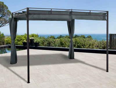 KONIFERA Pavillon »Milos«, mit 2 Seitenteilen, (Set), BxT: 300x300 cm
