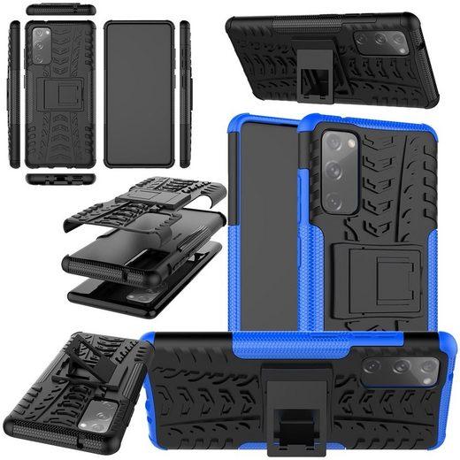 Wigento Handyhülle »Für Xiaomi Mi 10T / 10T Pro 5G Hybrid Handy Schutz Tasche Outdoor Etuis Hülle Cover Case«