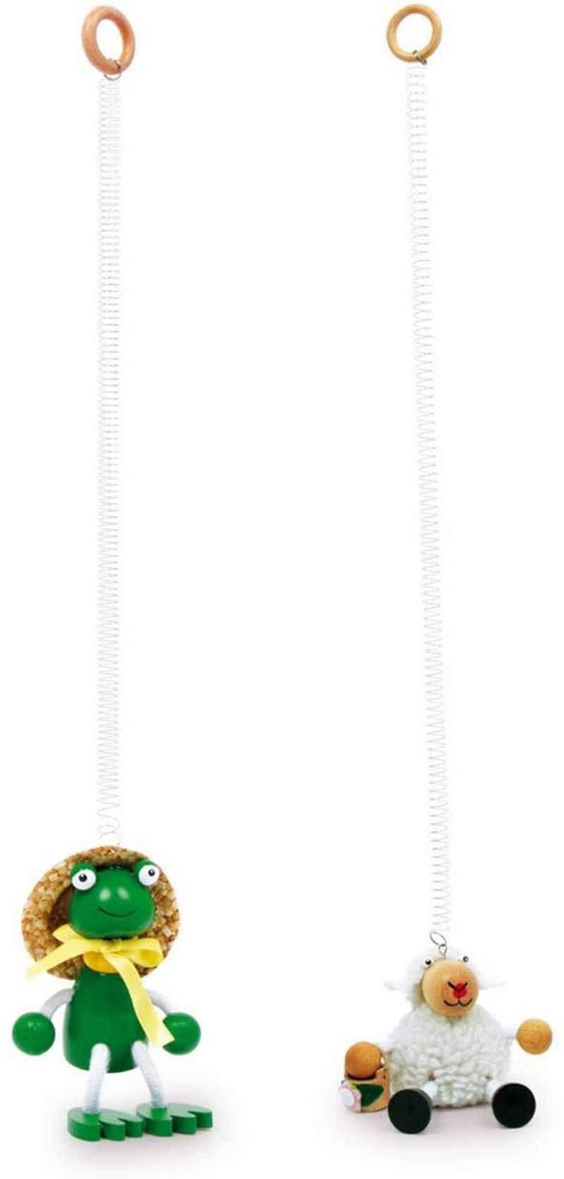LeNoSa Hängefigur »JUMPER • Holz Tier Figur • Hängedekoration federnde Tiere • ca. 10 x 7 x 11 cm«