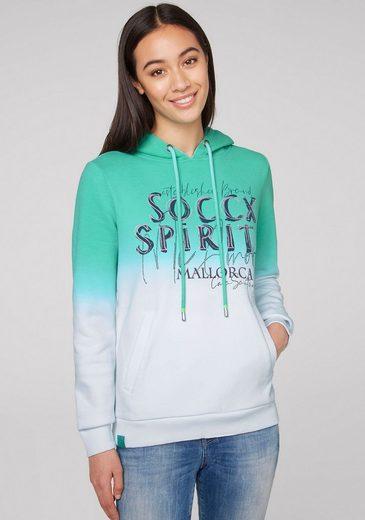 SOCCX Kapuzensweatshirt mit Wording Print