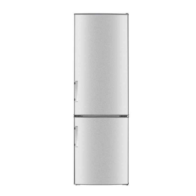 Wolkenstein Kühl-/Gefrierkombination KGK280D, 180 cm hoch, 55 cm breit, Kühl-Gefrierkombination, Inox Design, regelbares Thermostat, LED Beleuchtung