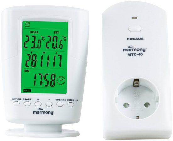 Marmony Raumthermostat »MTC-40«, Funk, Digitales Display, Fernbedienung