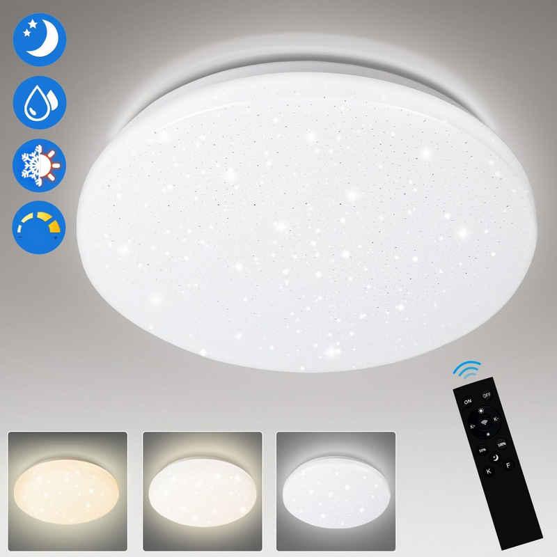 Einfeben LED Deckenleuchte »24W LED Deckenlampe Sternenhimmel Deckenlampe Dimmbar mit Fernbedienung Wohnzimmer«, Dimmbar