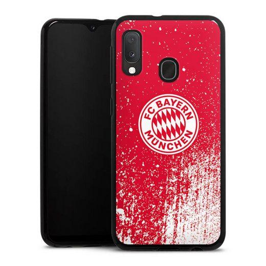 DeinDesign Handyhülle »Splatter Rot - FCB« Samsung Galaxy A20e, Hülle FC Bayern München Offizielles Lizenzprodukt FCB