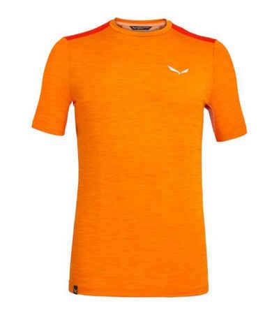Salewa Funktionsshirt »SALEWA Pedroc Hybrid 2 Dry Shortsleeve Sport-Shirt bequemes Herren T-Shirt fürs Homeworkout Fitness-Shirt Orange«