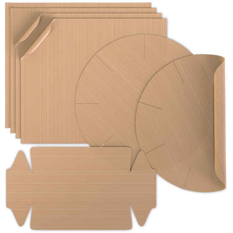 Arendo Backmatte, Dauerbackfolie im 7er Set Backpapier 4x eckig, 2x Springform, 1x Kastenform
