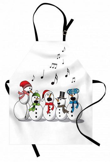 Abakuhaus Kochschürze »Höhenverstellbar Klare Farben ohne verblassen«, Schneemann Lustige Silhouetten Singen