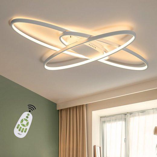ZMH LED Deckenleuchte »Deckenlampe Wohnzimmer 75W Dimmbar mit Fernbedienung Dekorativ Schlafzimmer Küche Büro«
