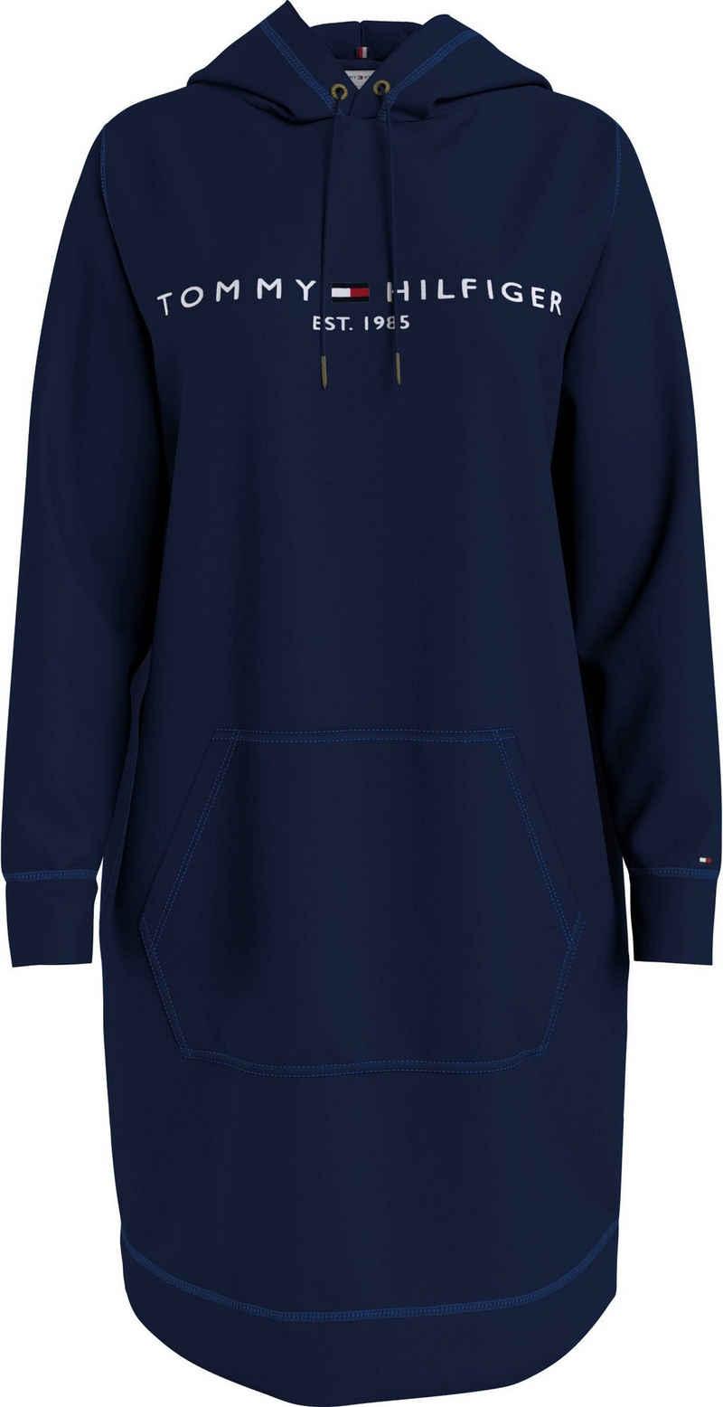 Tommy Hilfiger Sweatkleid »Regular Hilfiger Hoodie Dress LS« mit Tommy Hilfiger linear Logo-Schriftzug