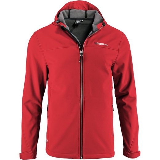 DEPROC Active Softshelljacke »ROUGH PEAK MEN« Kontrastreissverschluss