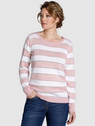 Dress In Pullover im Streifendessin