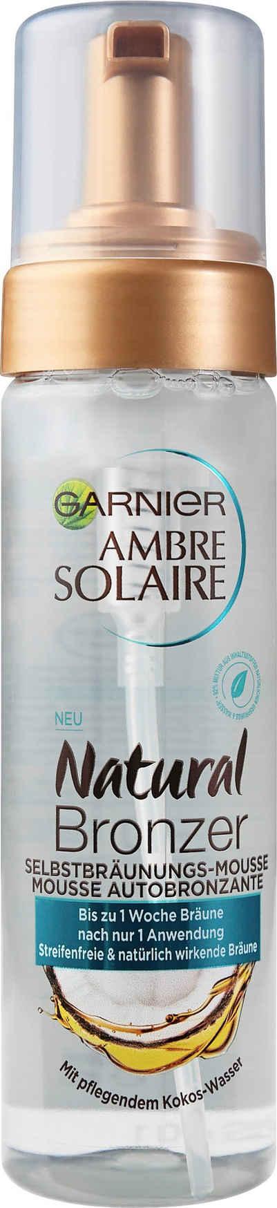 GARNIER Selbstbräunungsmousse »Ambre Solaire Natural Bronzer«, mit pflegendem Kokoswasser