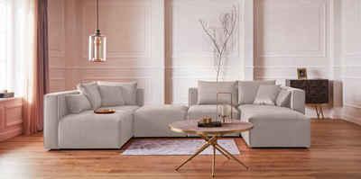 Guido Maria Kretschmer Home&Living Wohnlandschaft »Marble«, zusammengesetzt aus Modulen, in 3 Stoffen und vielen Farben
