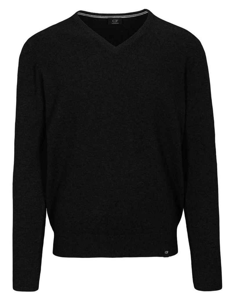 COMMANDER V-Ausschnitt-Pullover mit V-Ausschnitt