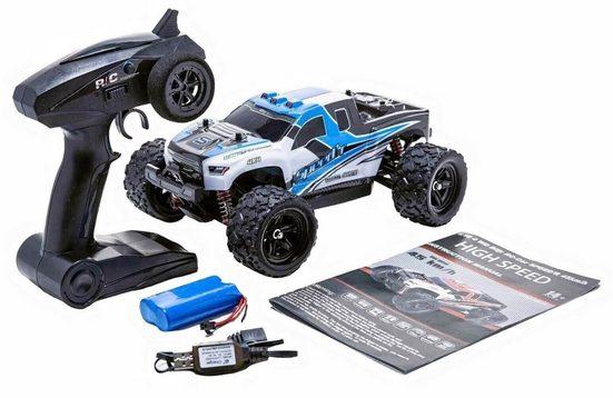 Blij´r RC-Auto »Speed´r ferngesteuertes RC Auto 45 km/h, 1:18, 2 Akkus, Allrad, 100m, Monstertruck« (Komplettset)