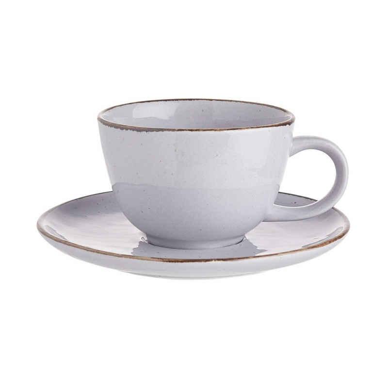 BUTLERS Espressotasse »FINCA 4x Tasse mit Untertasse 210ml«, Porzellan