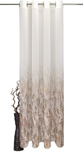 Vorhang »Fern Leaf«, VHG, Ösen (1 Stück), Deko Fixmaß,Verlauf,Digitaldruck