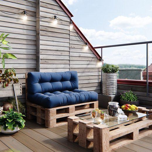 Vicco Palettenkissen »Palettenkissen-Set Sitzkissen Rückenkissen 15cm hoch Palettenmöbel Flocke blau«
