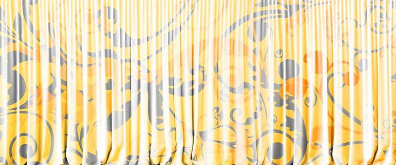 Architects Paper Fototapete »Atelier 47 Curtain White 1«, glatt, 3D-Optik, floral, (6 St)