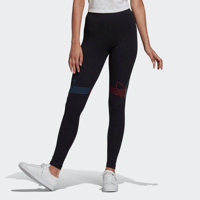 Hosen - adidas Originals Leggings »ADICOLOR TRICOLOR« › schwarz  - Onlineshop OTTO