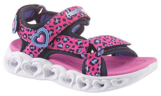 Skechers Kids »Blinkschuh Heart Lights Sandals« Sandale mit cooler Blinkfunktion