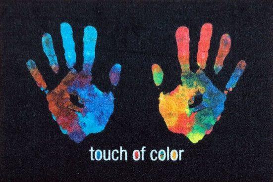 "Fußmatte »Rockbites - Fußmatte ""Hände - Touch of Color"" Türmatte Nr.130 (100962)«, Rockbites"