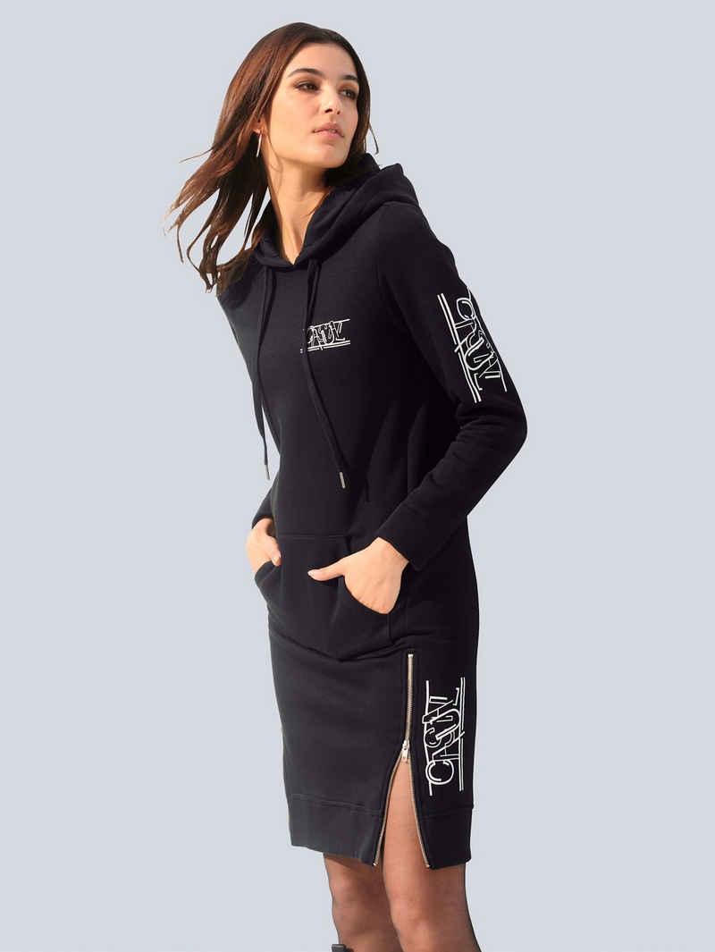 Alba Moda Sweatkleid mit gedrucktem Schriftzug