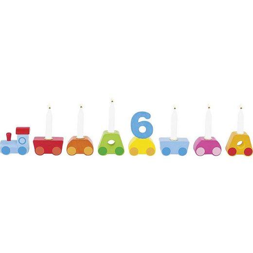 goki Kerzenständer »Geburtstagszug Regenbogen«