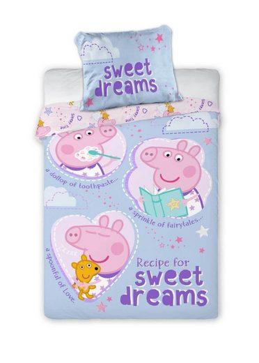 Babybettwäsche »Peppa Wutz - Baby-Bettwäsche-Set, 100x135 & 40x60 cm - Peppa Pig«, Peppa Pig, 100% Baumwolle