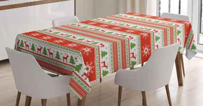 Abakuhaus Tischdecke »Personalisiert Farbfest Waschbar Für den Außen Bereich geeignet Klare Farben«, Weihnachten Reindeer Snowflake