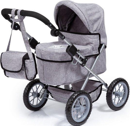 Bayer Puppenwagen »Trendy, grau«, mit Wickeltasche