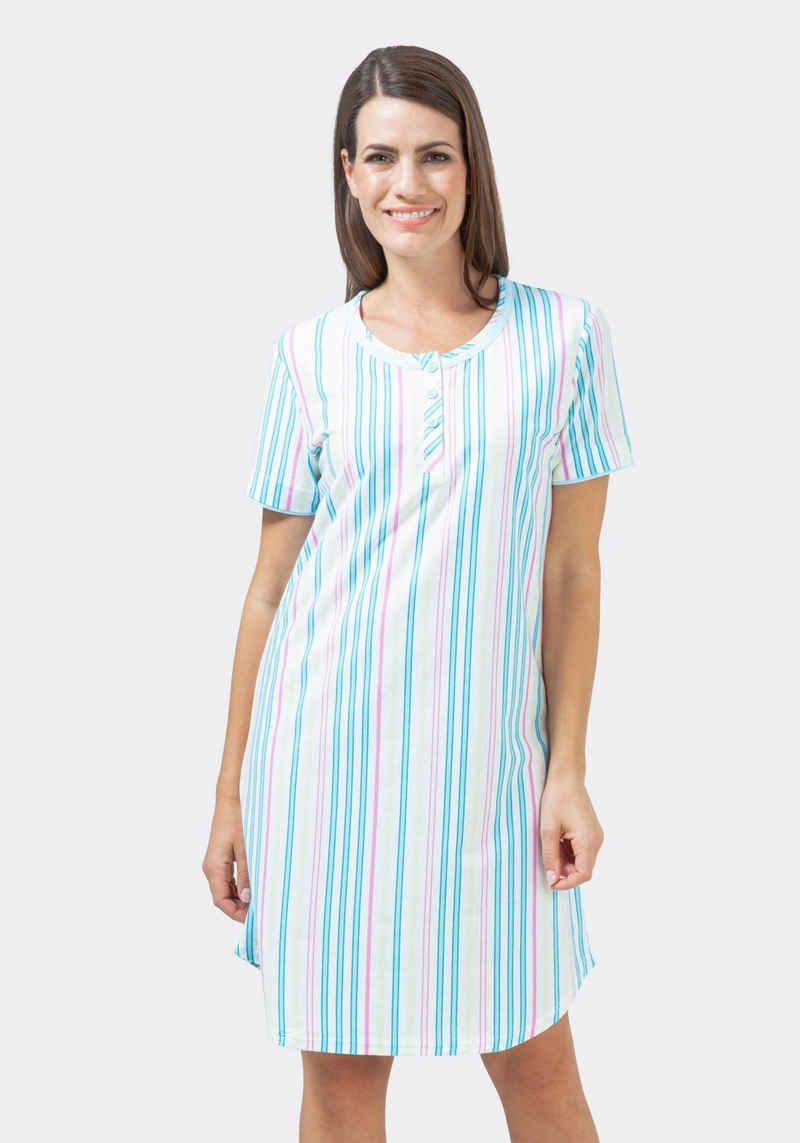 Hajo Nachthemd Klima Komfort Bügelfrei