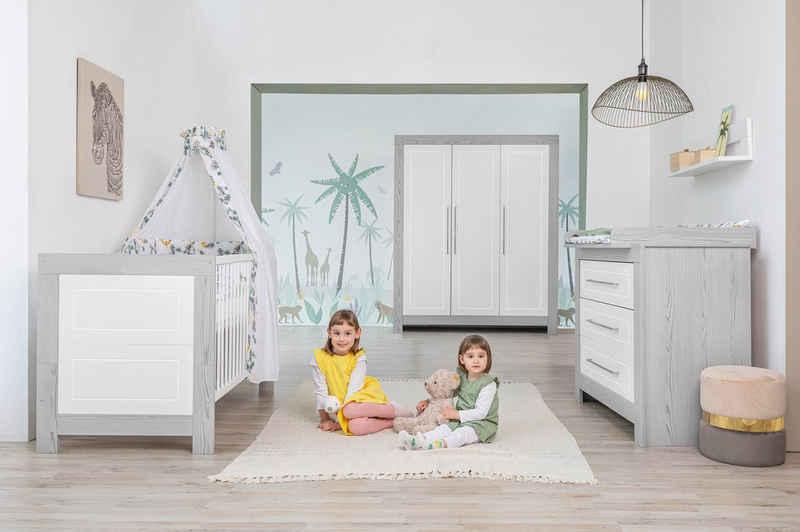 Schardt Babyzimmer-Komplettset »Scandic«, (Set, 3-St), Made in Germany; mit Kinderbett, Kleiderschrank und Wickelkommode
