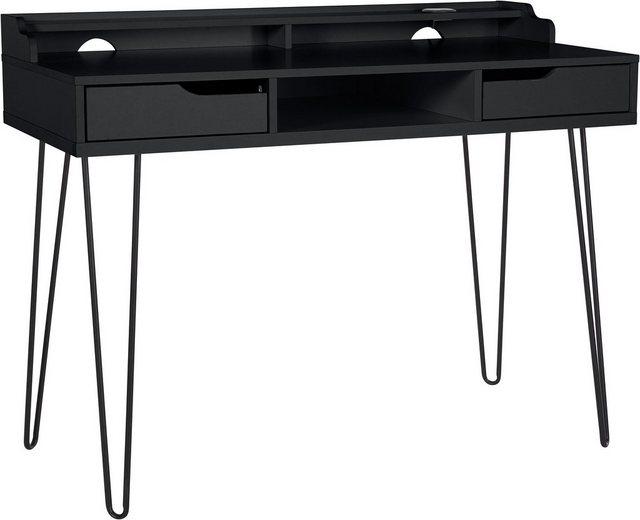 my home Schreibtisch »Lennox«| mit besonderen Funktion des Wireless Charger| praktische Kabeldurchführung| Metallgestell| Breite 115 cm | Büro > Bürotische > Schreibtische | My Home