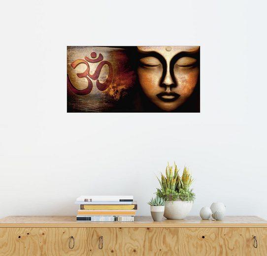 Posterlounge Wandbild, Siddhartha mit Om Zeichen