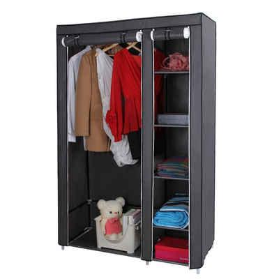 SONGMICS Kleiderschrank »LSF007 LSF007M LSF007G« Stoffschrank, Faltschrank mit Kleiderstange, Schlafzimmer, Garderobe, grau
