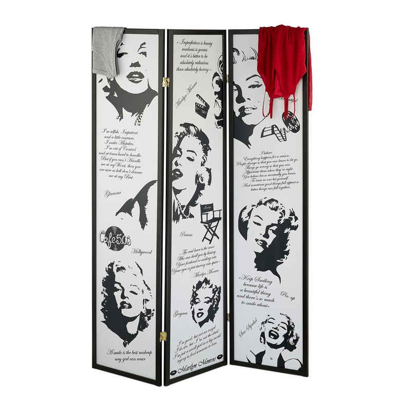 relaxdays Paravent »Paravent Marilyn Monroe«