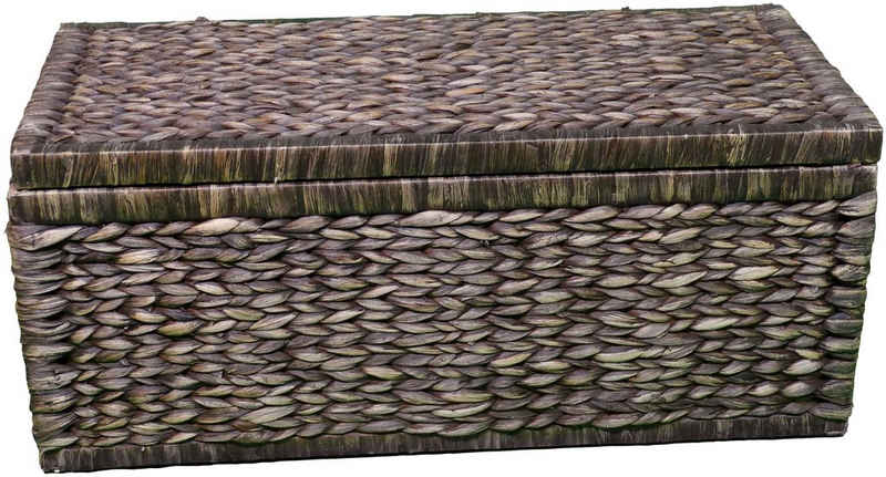 ARTRA Truhe »Artra Design Geflecht Truhe mit Klappdeckel 80 cm, braun«