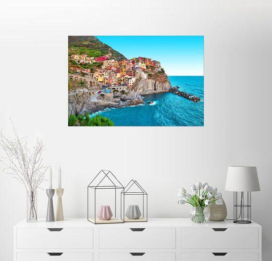 Posterlounge Wandbild, Manarola (Riomaggiore, Cinque Terre, Ligurien, Italien)