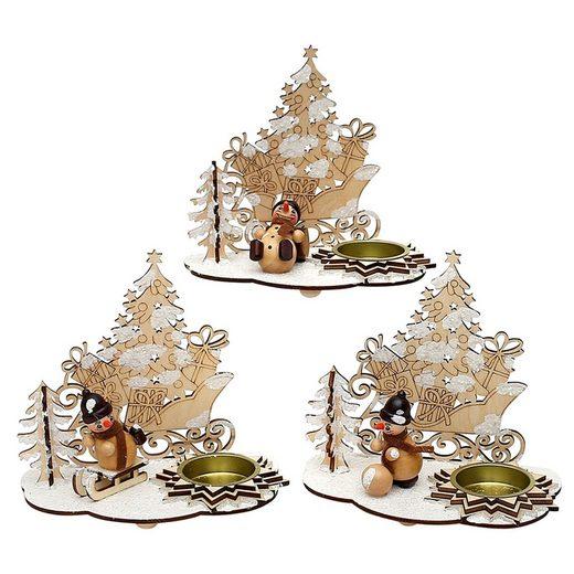 SIGRO Teelichthalter »Teelichthalter mit Schneemannfigur«