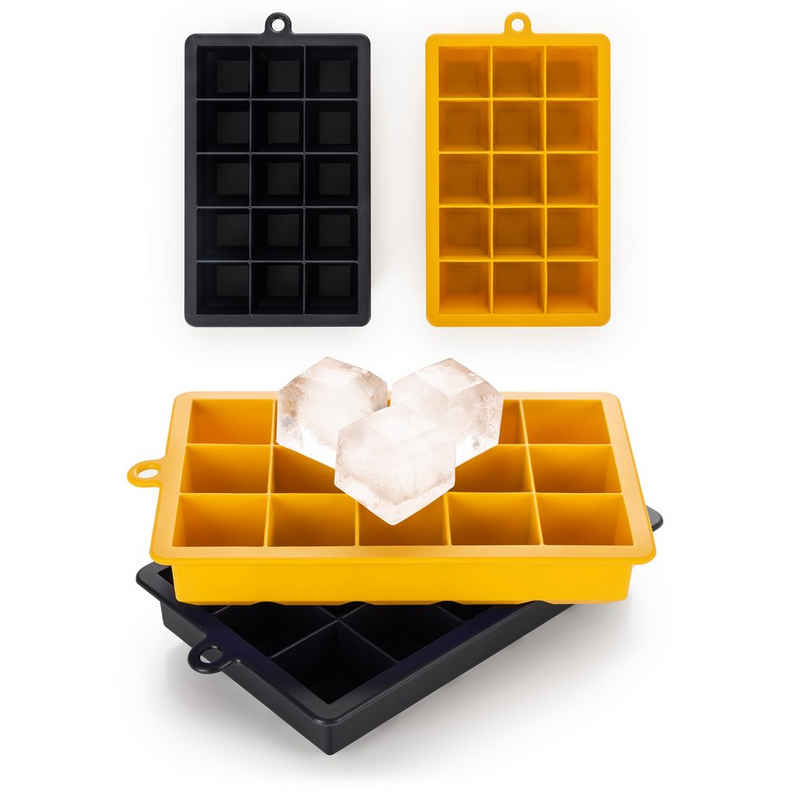 Blumtal Eiswürfelform »Eiswürfelform Silikon Würfel - Würfelgröße XL, 2x15er Pack, BPA frei, Leichtes Herauslösen der Eiswürfel, Silikon«, (2-tlg)