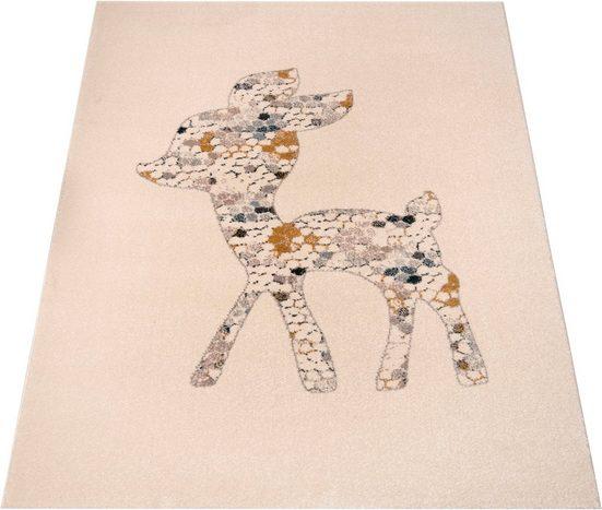 Kinderteppich »Little Deer«, Zala Living, rechteckig, Höhe 15 mm, Spielteppich, besonders weich durch Microfaser